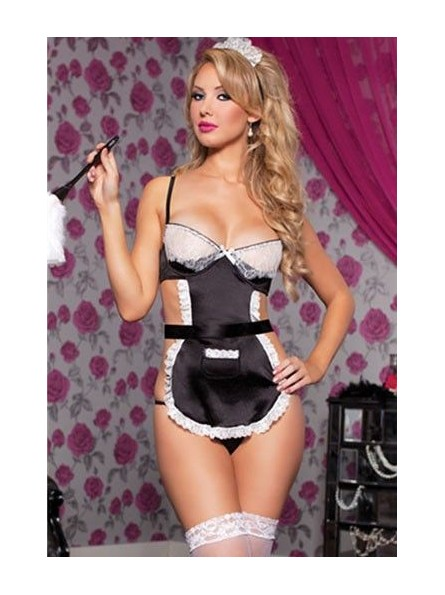 French Maid One Size Black 9704P