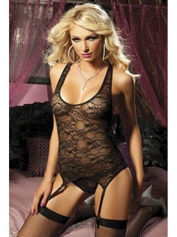 Black Camisole And Thong STM-9530P One Size