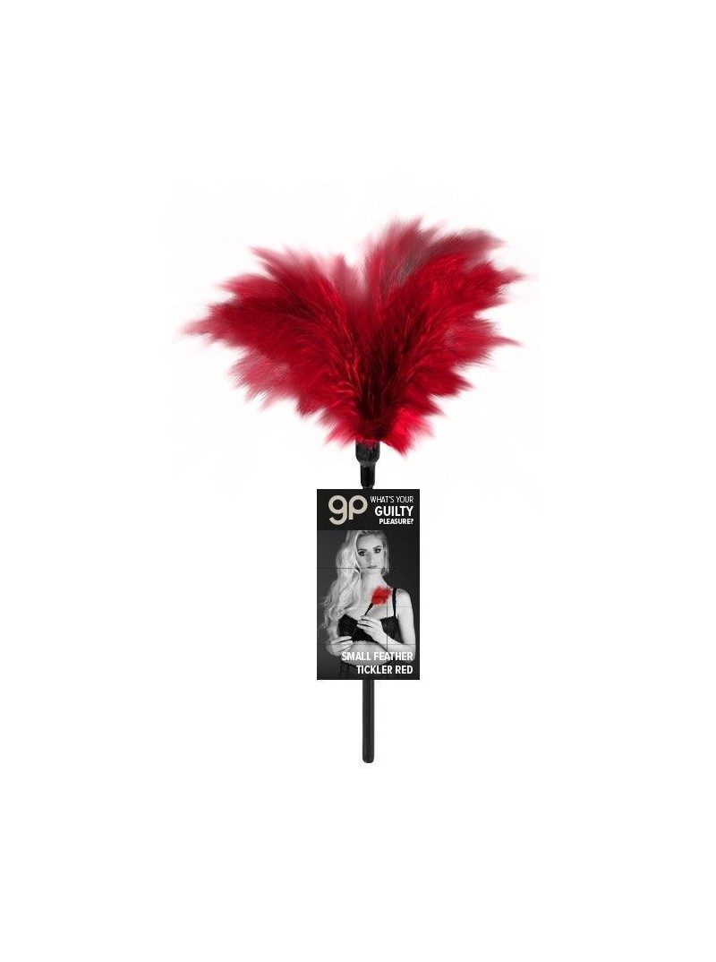 Plumero Gp Small Feather Ticler Rojo 32 Cm