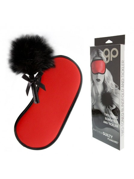 Kit 2 Piezas Gp Two-Toned Blindfold And Tickler Rojo